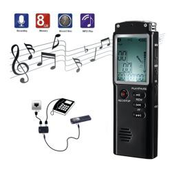 8GB Digital Audio Voice Sound Recorder with Display
