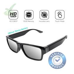 1080p FHD Ultra Slim Invisible Lens Eyewear Goggles Hidden Spy Camera