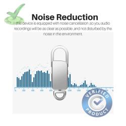 8gb 90hrs HD Spy Audio Sound Voice Recorder in Keychain